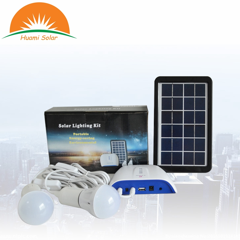 3W Solar Panel Li-ion Battery Solar Power Kit Solar Power Generator