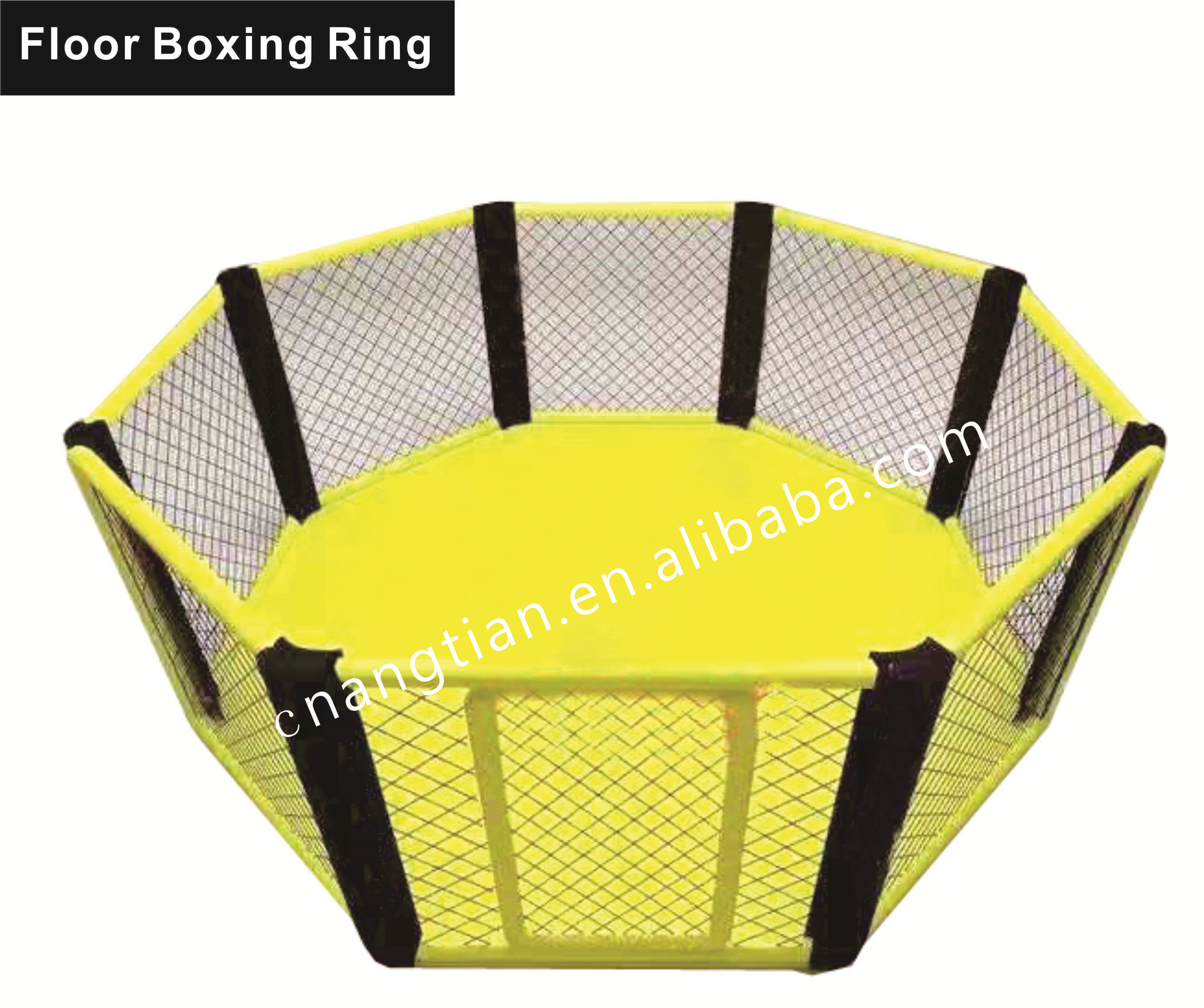 china customized steel training freestanding floor used mma octagon cage