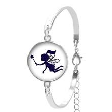 Женский браслет с крыльями кабошона, Ручные ювелирные изделия из стекла для балета, танцев, силуэта, 2019(Китай)
