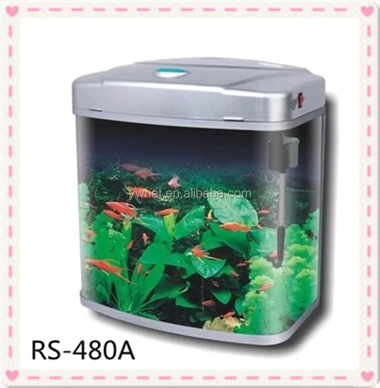 Mini Curved Glass Fish Tank Aquarium