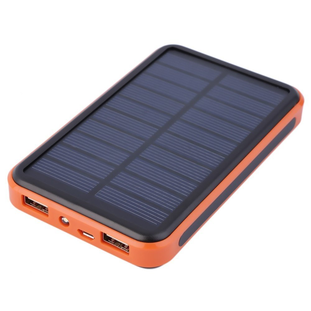 Vipwind Solar Power Bank 30000mAh Solar Charger Waterproof Portable Solar Power Bank Dual USB Solar Charger for Cell Phone Power Bank - Orange