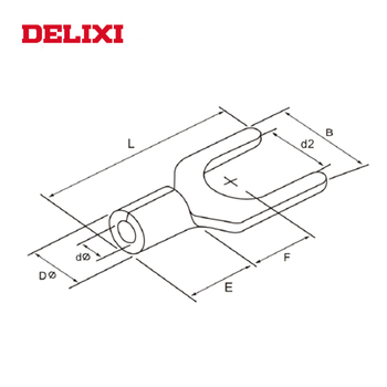 DELIXI COLD-PRESSED TU FURCATE NAKED COPPER Screw Terminal Connector cable lug manufacturers