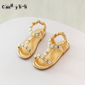 2016 Children Fashion Casual Shoe Toddlers Girls Sandals Summer Kids Shoes Pu Leather Color Roman Princess