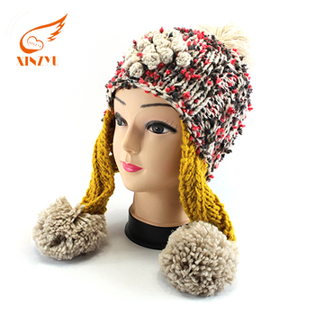 Custom High Quality Free Knitting Pattern Hat And Different Types Of