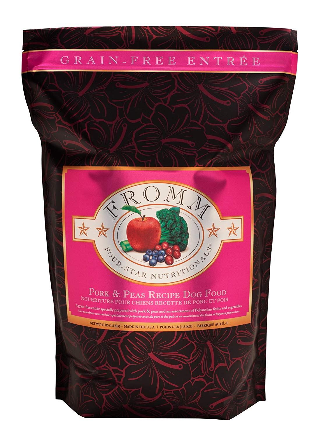 Fromm Family Foods 727614 Grain Free Pork and Peas 26 lb Dry Dog Food (1 Pack), One Size