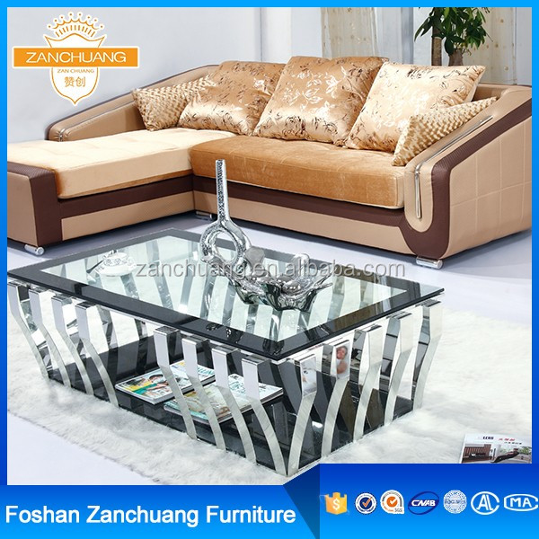 Wholesale Fashional Furniture Antique steel brass coffee tables