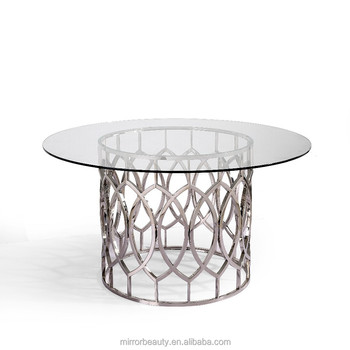 Stainless Steel Dining Table With Glass Top Part 68