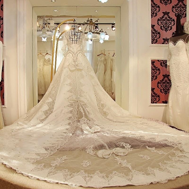 ls1059 de lujo de media manga venta al por mayor vestido de boda