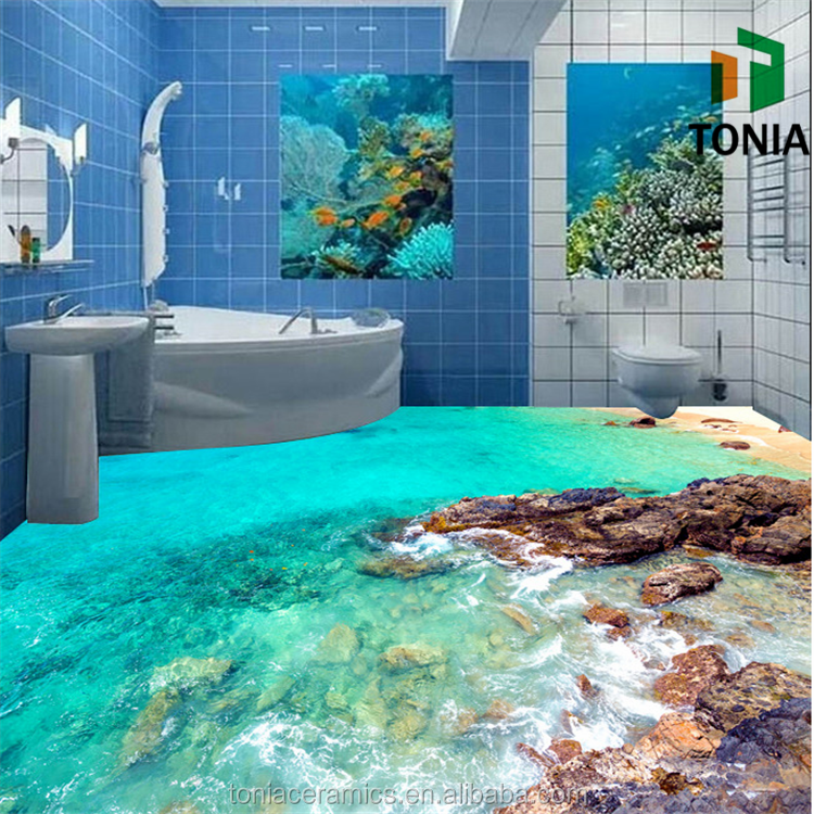 3d printen vloertegel badkamer vloer 3d grafische aangepaste grootte ...