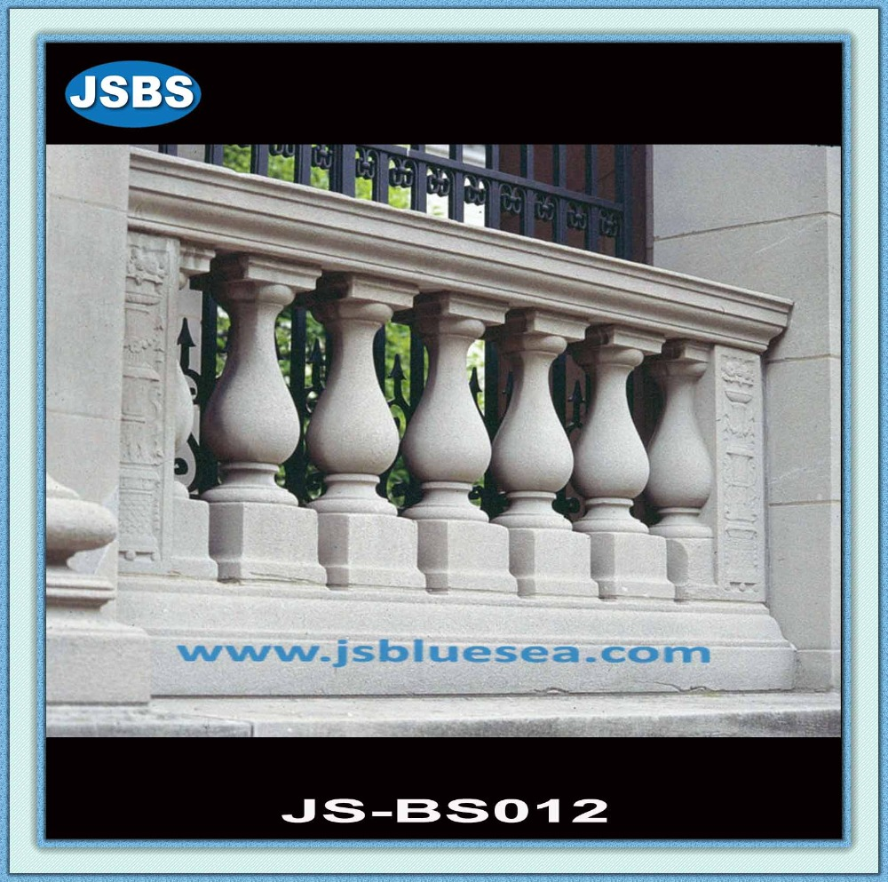 Garden Decoration Hand Carved White Marble Newel Post For Sale