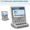 3 or 4 buttons type customer evaluation device