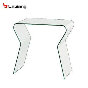 modern Italian design contemporary bent glass console table