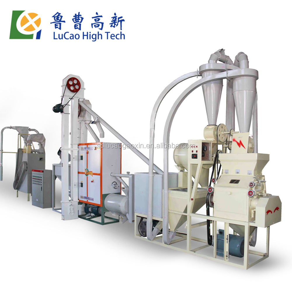 2016 hot sale 6FW-12AB 10 Ton per day wheat flour milling machine with price