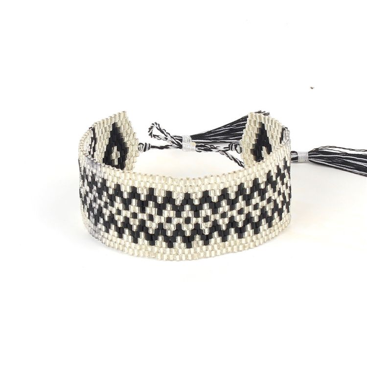 China Factory Price Bead Bracelet High-quality Woven Seed Bead Tassel Jewelry Bohemia Bracelet For Women