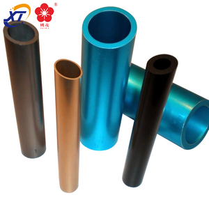 tapered thin wall rectangular aluminum tube oval powder coated aluminum tube