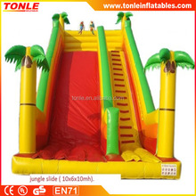 Funny jungle theme inflatable slide,giant inflatable slide,inflatable kid's slide for sale
