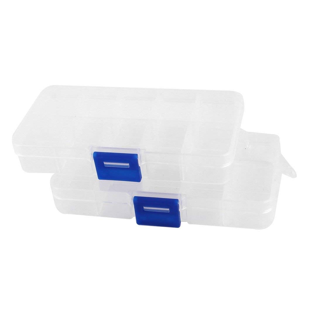 Aexit 2pcs Plastic Tools & Equipment 10 Compartments Electronic Components Storage Tool Boxes Box Case
