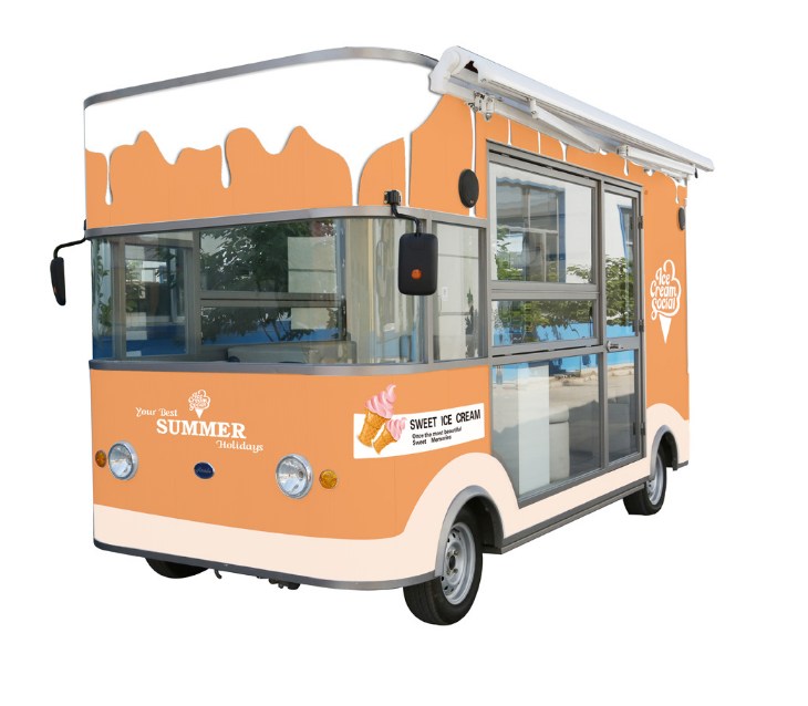 electric ice cream cart