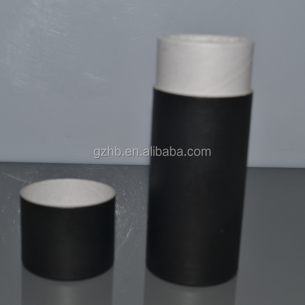 fashionable beautiful customized packaging black printing paper tube