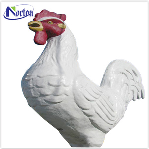 Outdoor decoration large fiberglass chicken sculpture NT-FS232B
