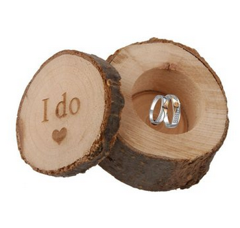 Rustic Decor Wood Craft Wedding Ring BoxVintage Engagement Ring