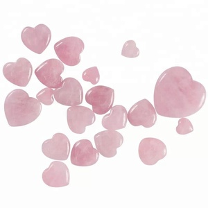 pink heart shaped rose quartz crystal healing chakra stone