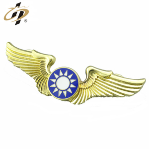 Hot selling zinc alloy custom bulk enamel metal pilot wings gold lapel pins
