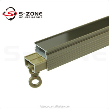 Aluminum Straight Square Ceiling Sliding Curtain Track With Accessories To  Malaysia