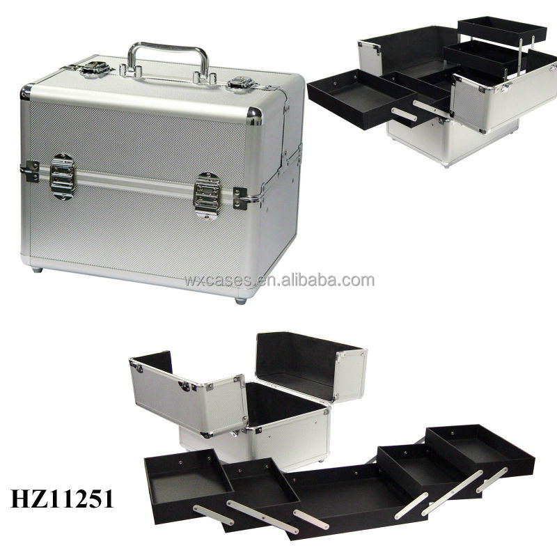 professional hard makeup case aluminum with different color options