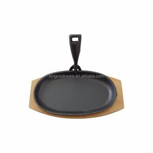 cast iron sizzler steak plate