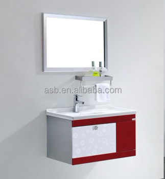 Hotel Wall Mounted Dressing Table Stainless Steel Bathroom Vanity Cabinet