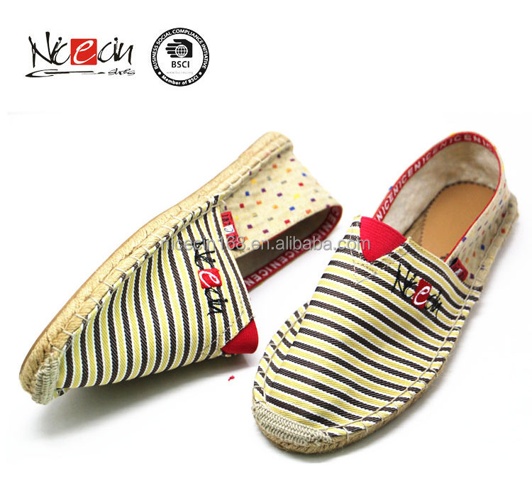 2017 manufacturer footwear design canvas shoe girl espadrilles