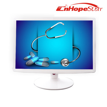 Widescreen white color 19 inch medical grade lcd monitor with dc 12v
