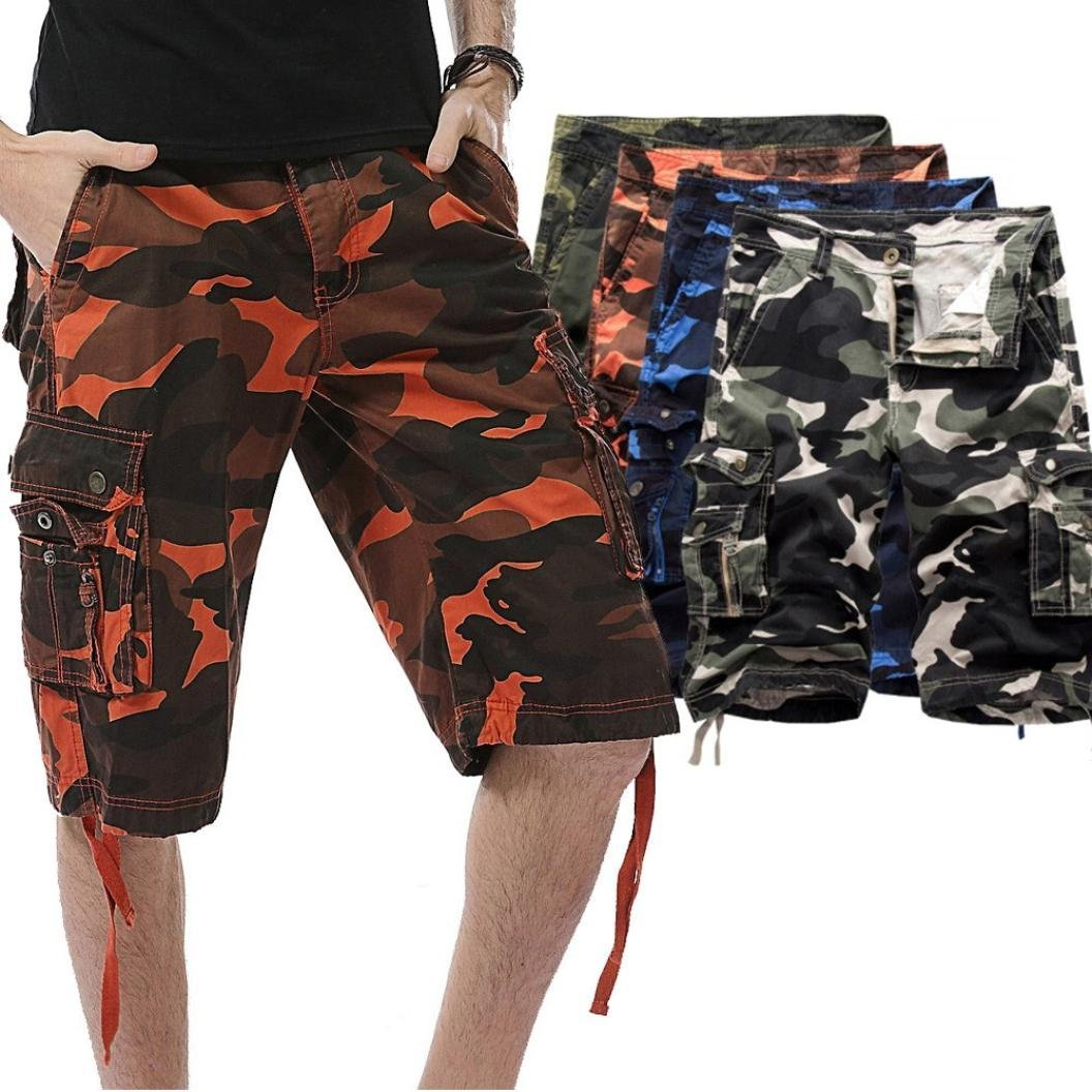 cb5f1fc5d5 Get Quotations · Nacome Mens Army Cargo Combat Shorts Casual Work Cotton  Chino Camo Half Pant