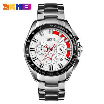 59535bed9a49 Skmei 9167 fashion jam tangan japan movt quartz watch stainless steel back  men wrist watch waterproof