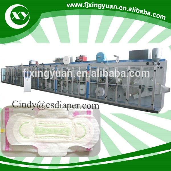 Disposable ladies sanitary pads making machine