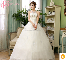 Zhongshan Crystal Beaded Backless Wedding Dresses Lace Sweetheart