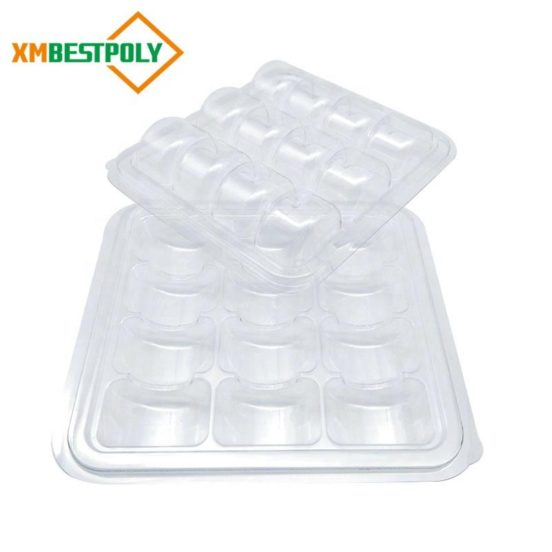 Прозрачный пластиковый 12 Macaron блистер лоток Box Pack