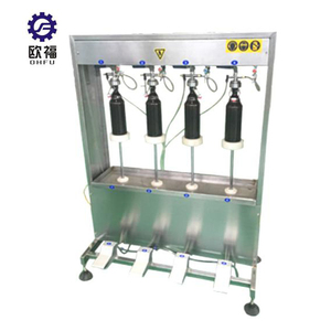 Four filling heads range 150-750ml beer bottle filler with capper