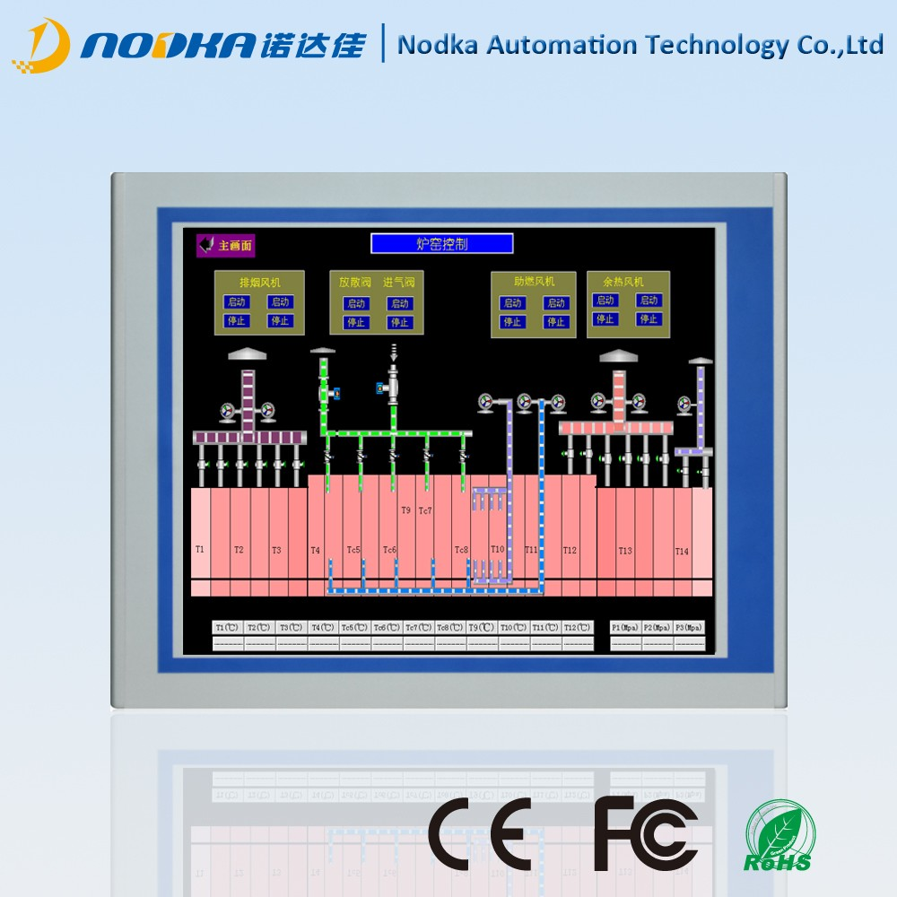 "19""Screen Size interactive HD LCD touch display with vga,dvi input 1280*1024"