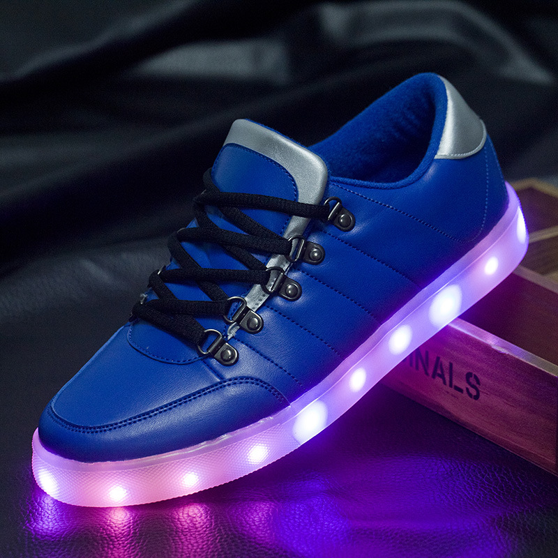 2015 men glowing sneakers with lights up luminous shoes a
