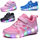 Wholesale New Design Children Lighted Cool Sneaker LED Kids Shoes With Wheels