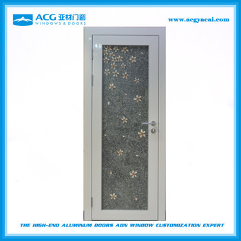 White Color Aluminum Frame Interior French Swing Door Wi - Buy ...