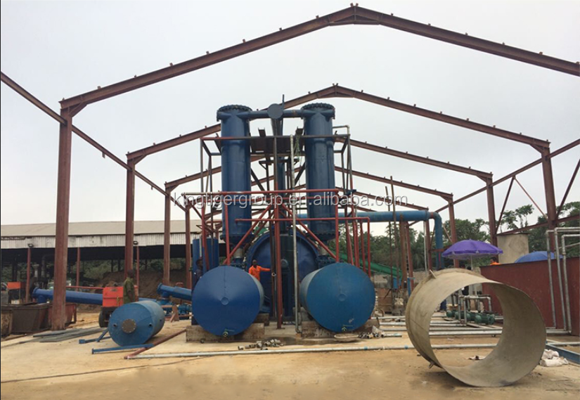 2016 Waste Tire Fuel Oil Recycling Pyrolysis Plant For ...