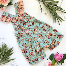 Baby Girl Printed Cotton Romper Kids Ruffle Summer Clothes Baby Jumpsuits