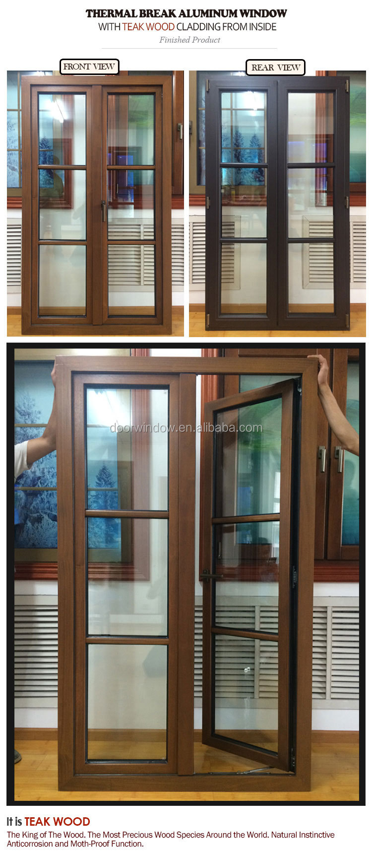 Special material casement window french soundproof windows