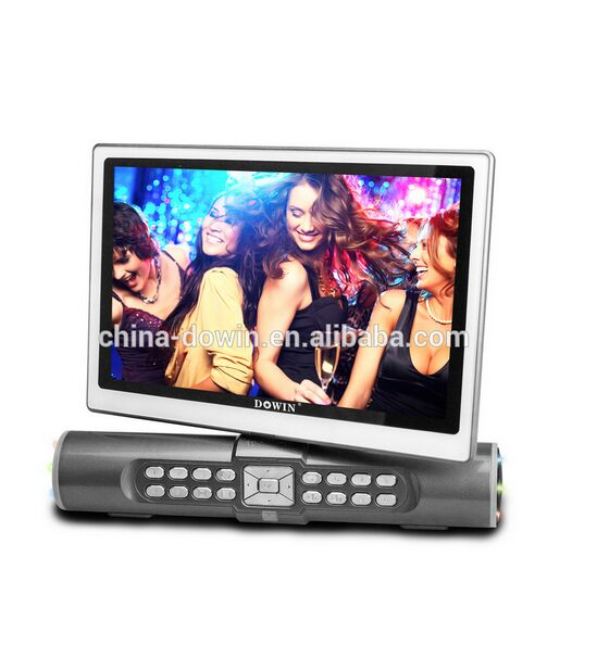 10 inch flat screen tv portable with bluetooth speaker