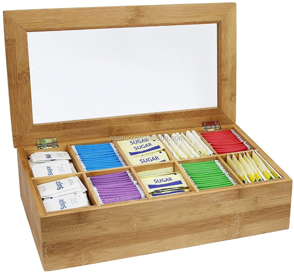 Bamboo Tea Storage Box With Compartments Tea Gift Box Wood   Buy Tea Box  Wood,Twinings Tea Box,Tea Box Packaging Product On Alibaba.com