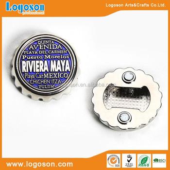Riviera Maya Souvenir Gifts Beer Cap Shape Fridge Magnet Bottle Opener -  Buy Beer Opener,Fridge Magnet Bottle Opener,Bottle Cap Product on  Alibaba com