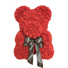 Wholesale High Quality Valentine's Day Foam Fake Teddy Rose Flower Bear For Girl Friend 40 cm High